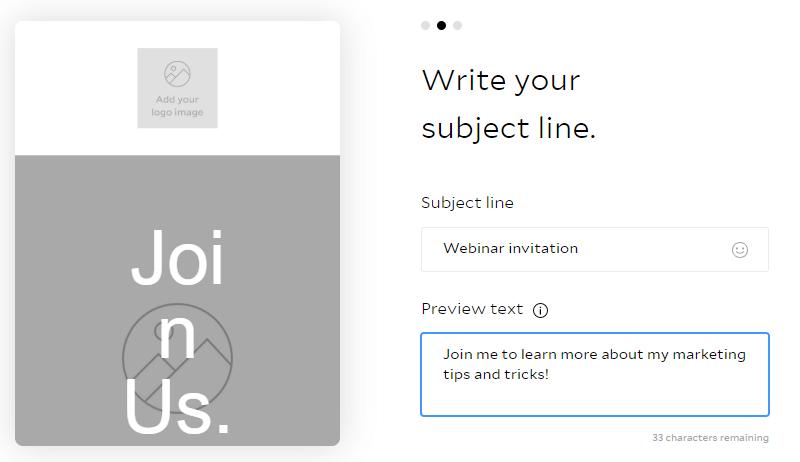Flodesk email subject