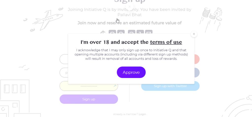 Initiative Q Terms