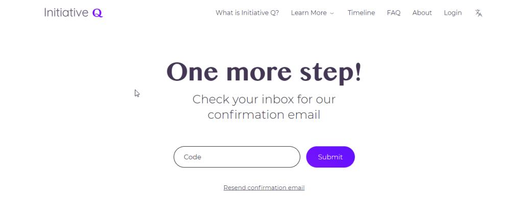 Initiative Q Signup