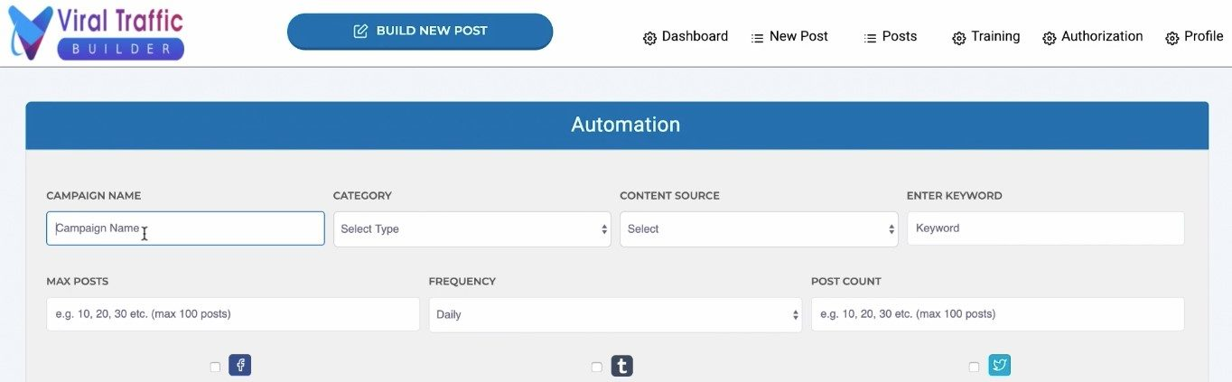 viral traffic builder automation