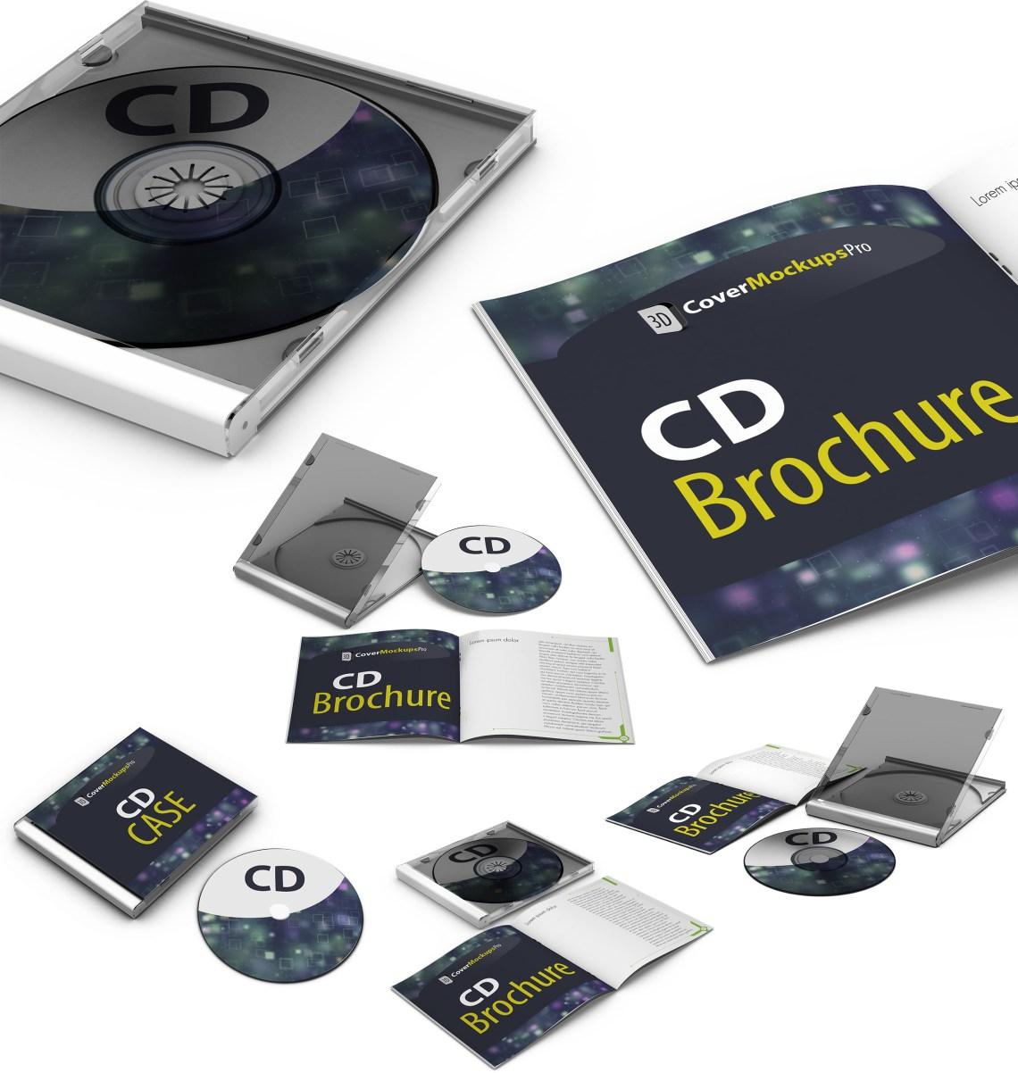 cd ecovers 3d mockup