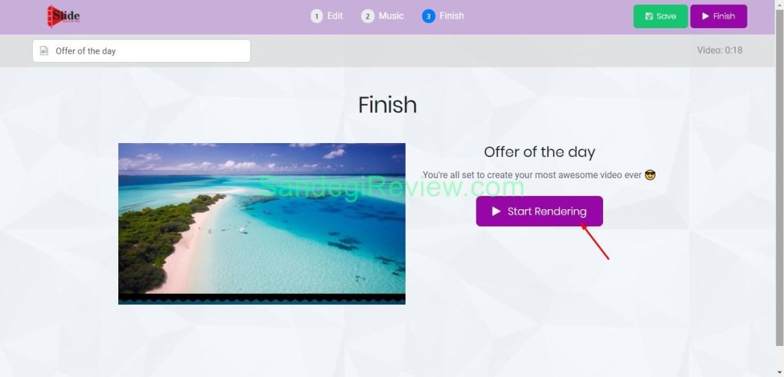 video app suite slide machine render