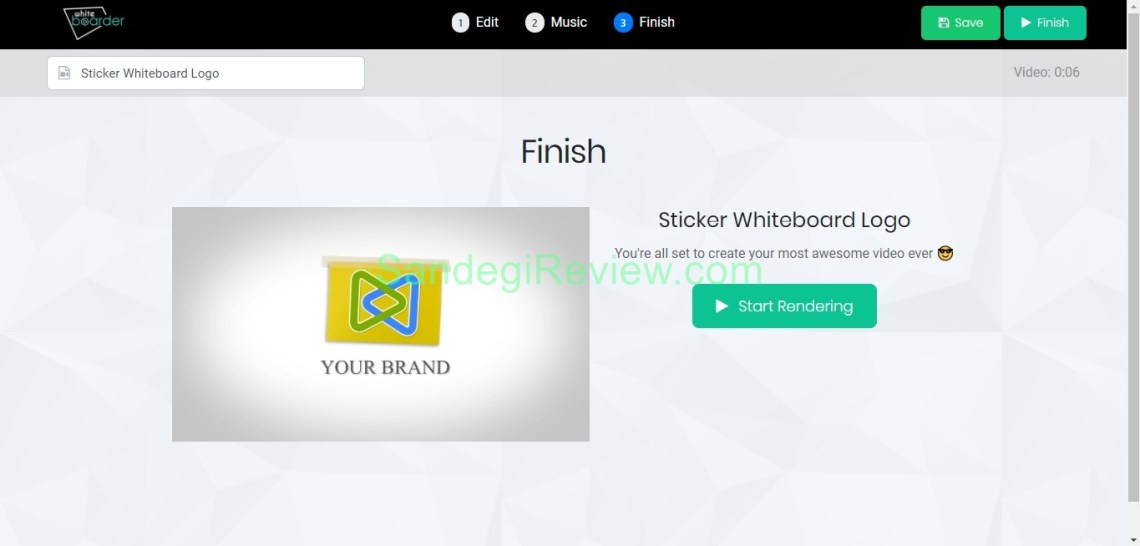 video app suite review whiteboard