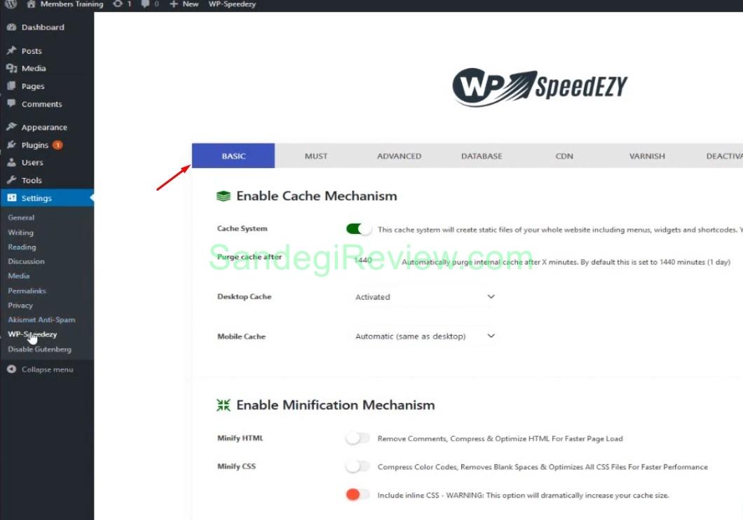 wp speedezy review basic