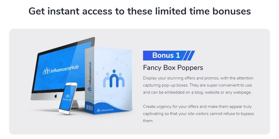 influencers hub bonuses 1