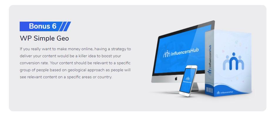 influencers hub bonuses 6