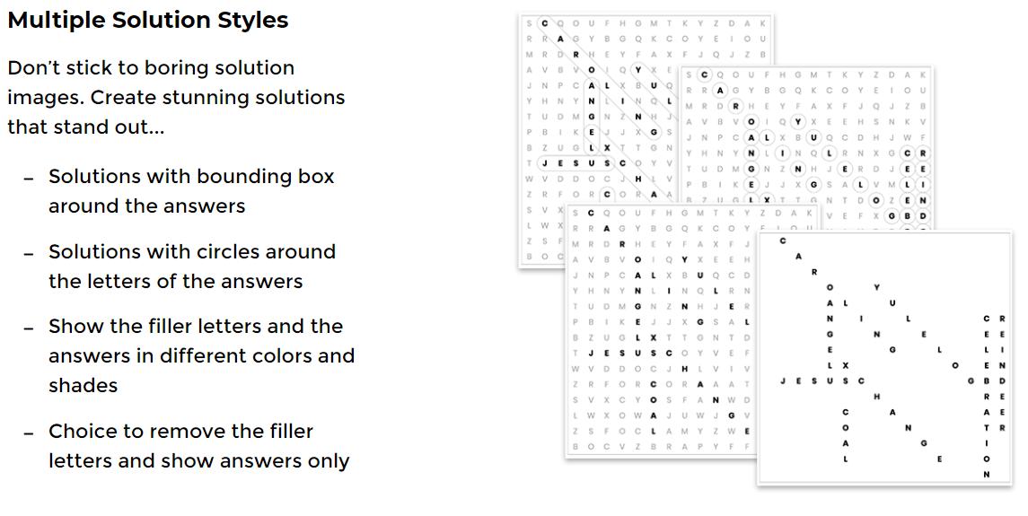 instant puzzle generator features 15 multiple solutions