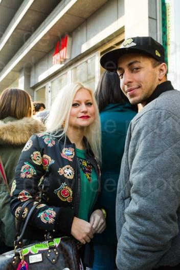 Versace bij H&M Nieuwstraat Brussel