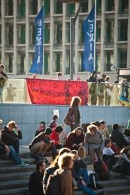 Indignados protest in Brussels