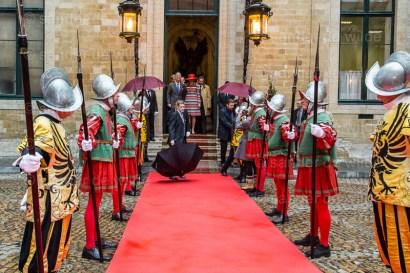 Royals start their walking tour