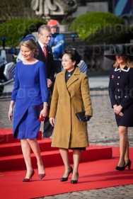 Peng Liyuan and queen Mathilde