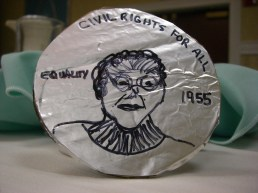 Coin Front View of Rosa Parks Design Engineer: Sylvia Anderson