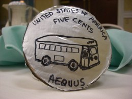 Coin Back View of Rosa Parks Design Engineer: Sylvia Anderson