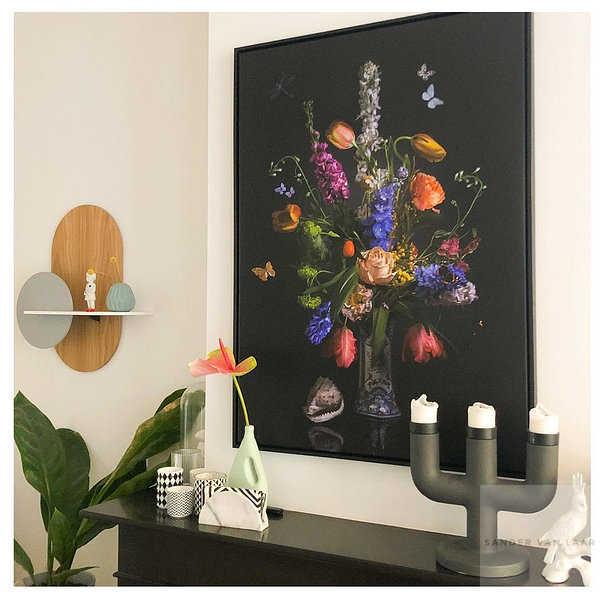 Clients interior with flowerstill life art