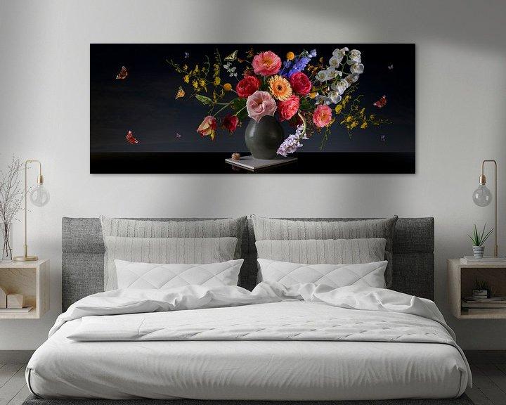Panorama fotografie bloemenschilderij