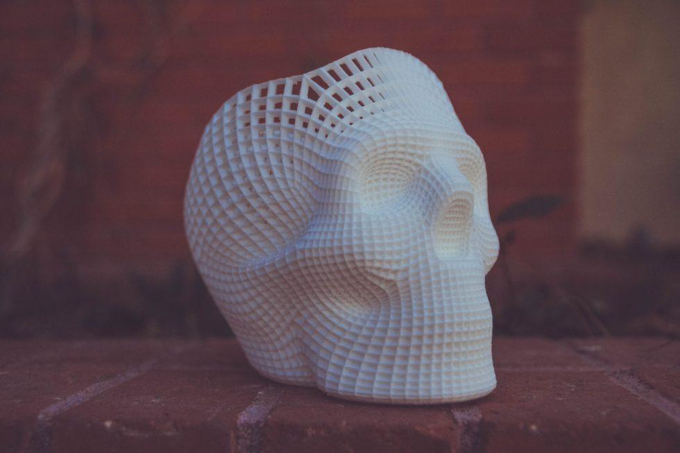 Wireframe Skull 3D-printed