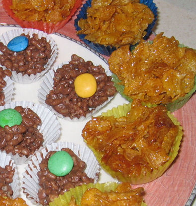 Honey crackles and chocolate crackles!