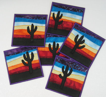 Tequila Sunrise coasters