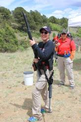 Heidi getting ready for the next stage - 2016 3-Gun University