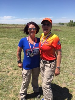 Heidi sporting her High Lady Open Division award and Cindy DeSplinter sporting her High Limited Lady award - 2016 Mile High Showdown