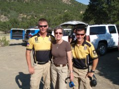 Heidi with Pro 3-Gun Shooters Daniel Horner & Tyler Payne of the US Army Marksmanship Unit (AMU)