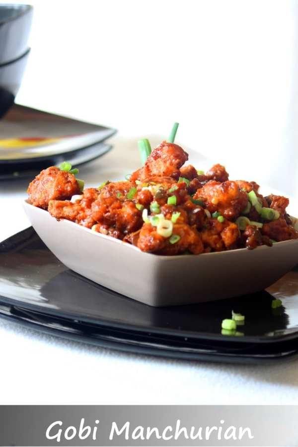 bowl of gobi manchurian