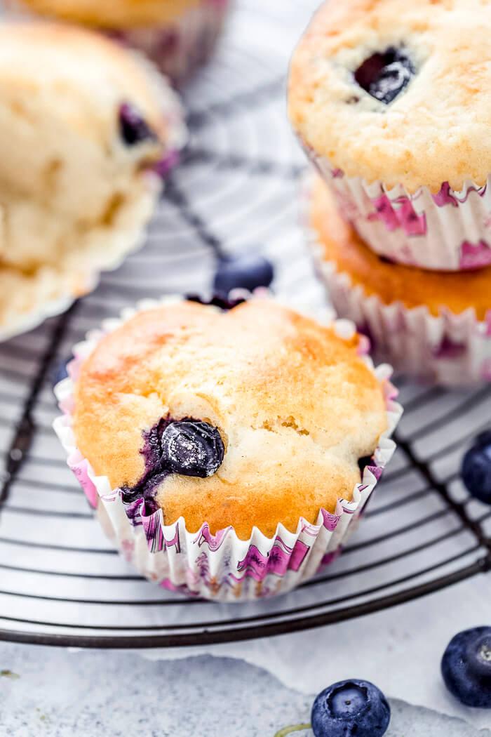 egg free blueberry muffins recipe image