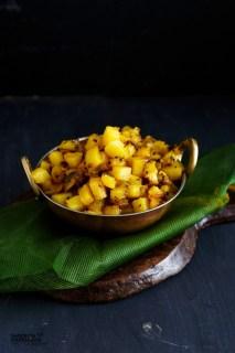 Easy Potato Curry | Dry Aloo ki Sabji - South Indian Style