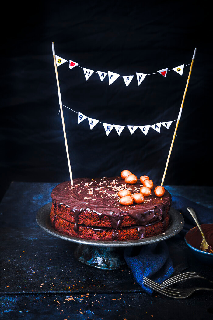 Eggless Chocolate Cake Recipe Image
