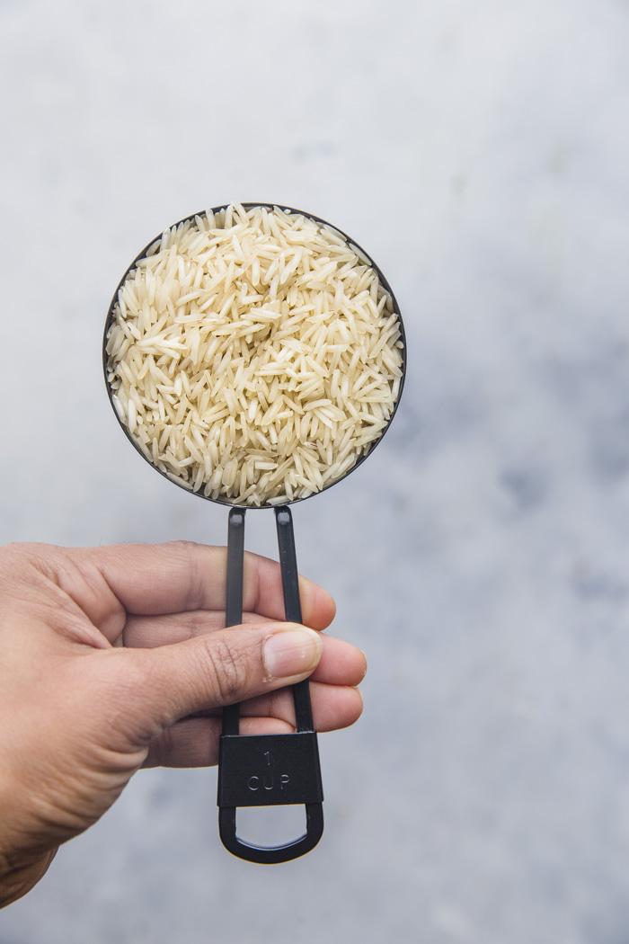 1 cup White Basmati Rice