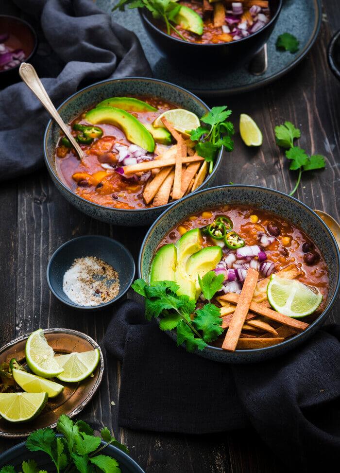 Red Lentil Tortilla Soup