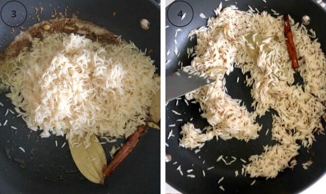 jeera rice step by step photos