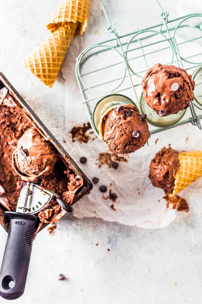no churn chocolate ice cream