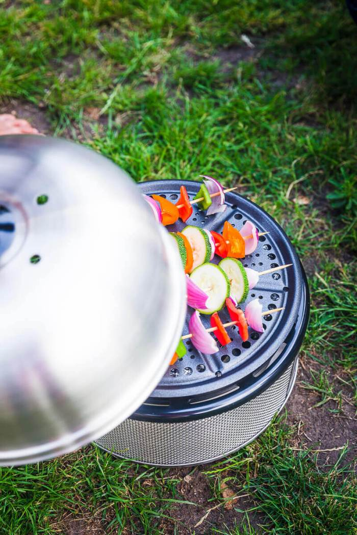 campfire potatoes recipe in cobb barbecue grill