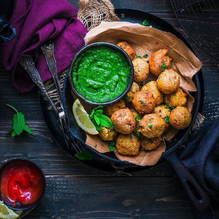 Veggie Haggis Pakora recipe