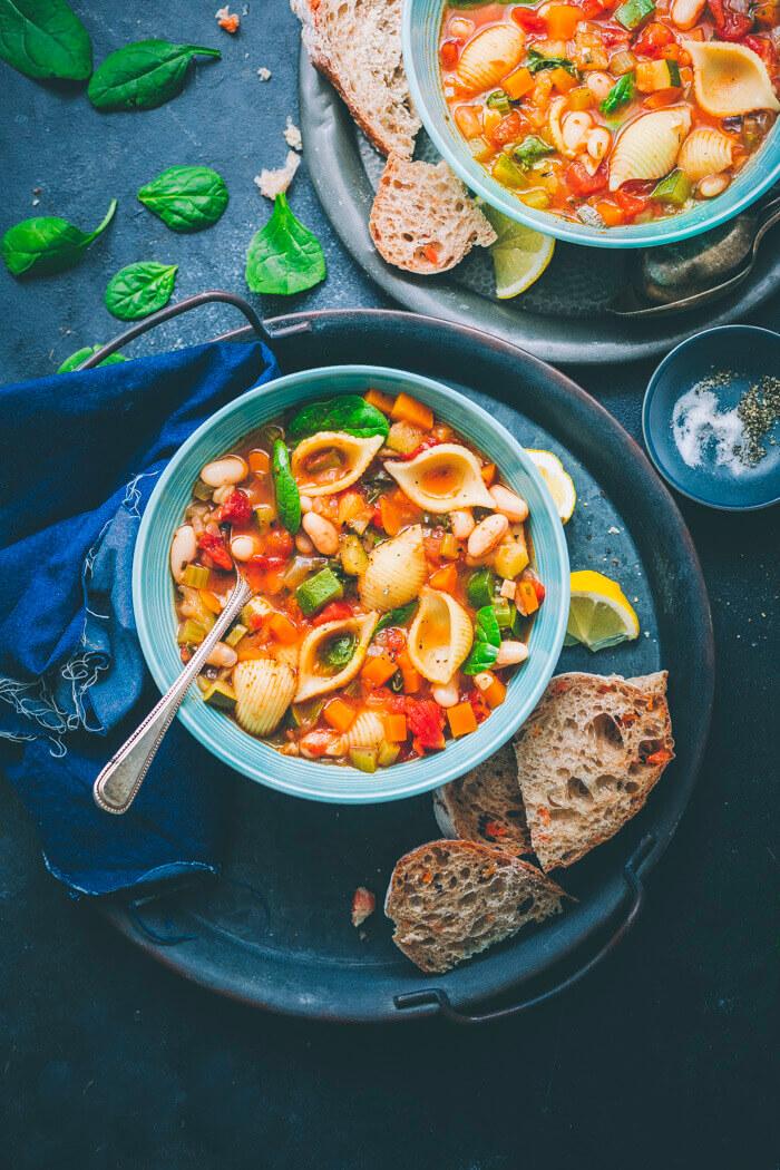Vegetable Instant Pot Minestrone Soup