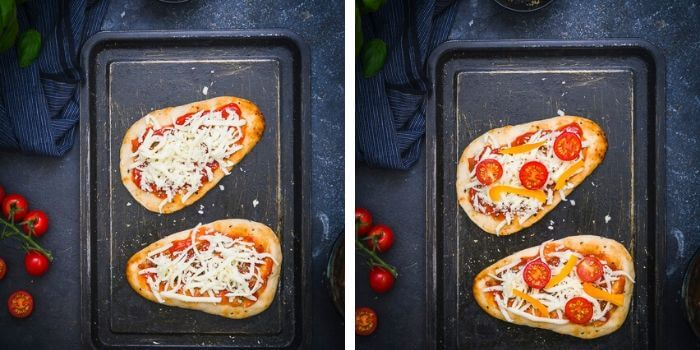 naan pizza step by step