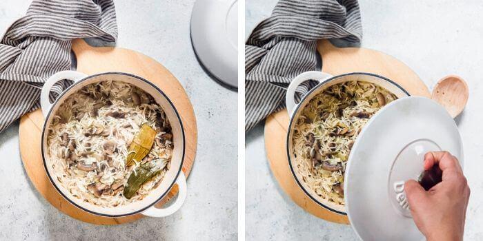 mushroom fried rice recipe imagery