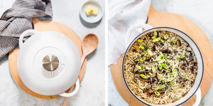 mushroom fried rice recipe step by step