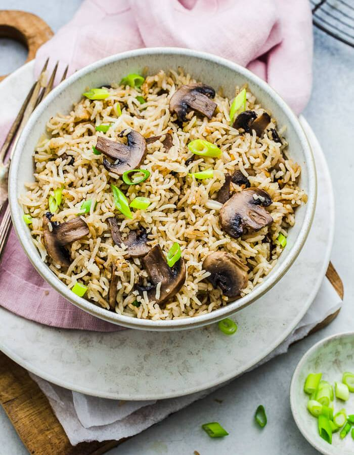 Mushroom rice recipe image