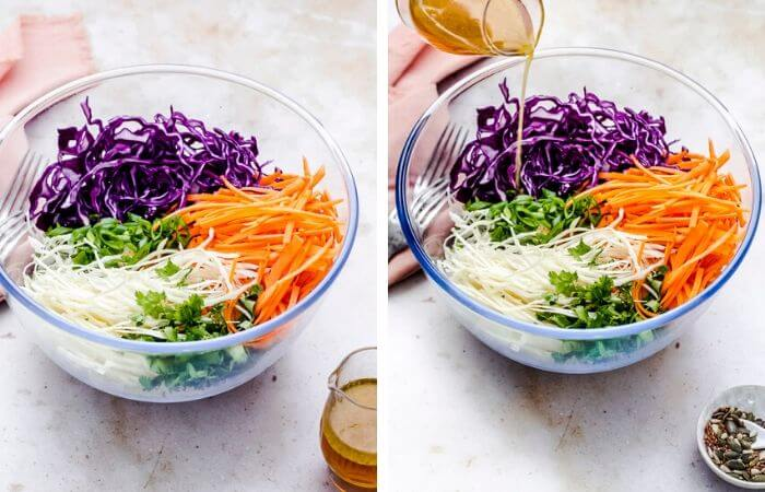 no mayo coleslaw step by step image