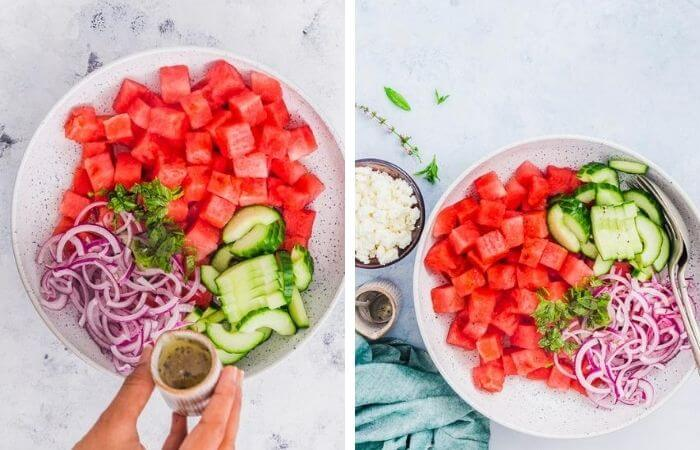 How to make Watermelon Salad step by step