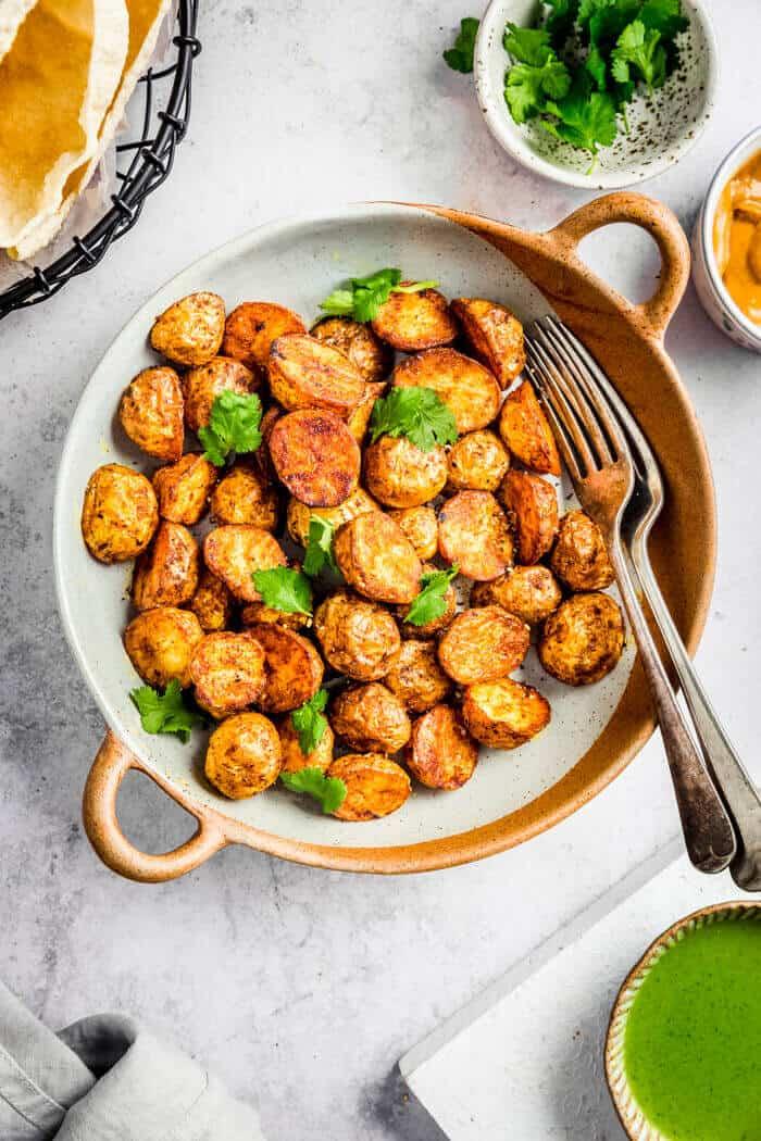bowl of potatoes side dish