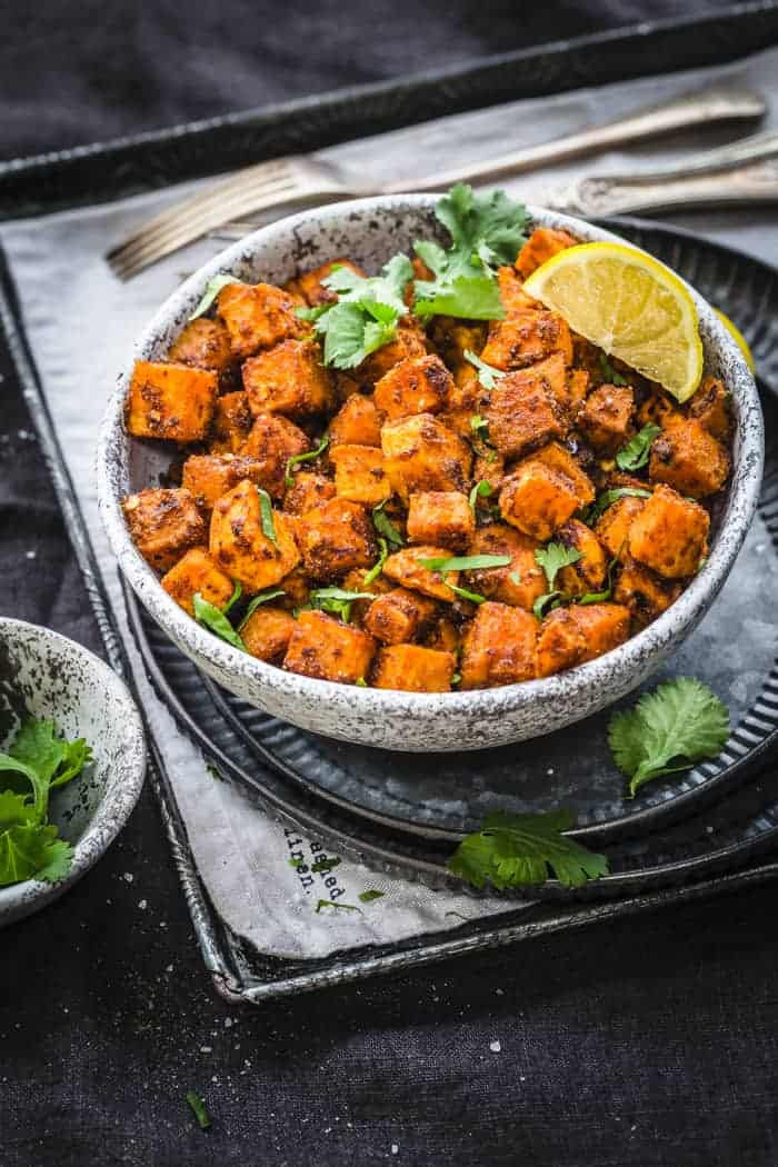 Bowl of Mexican Roasted Sweet Potatoes
