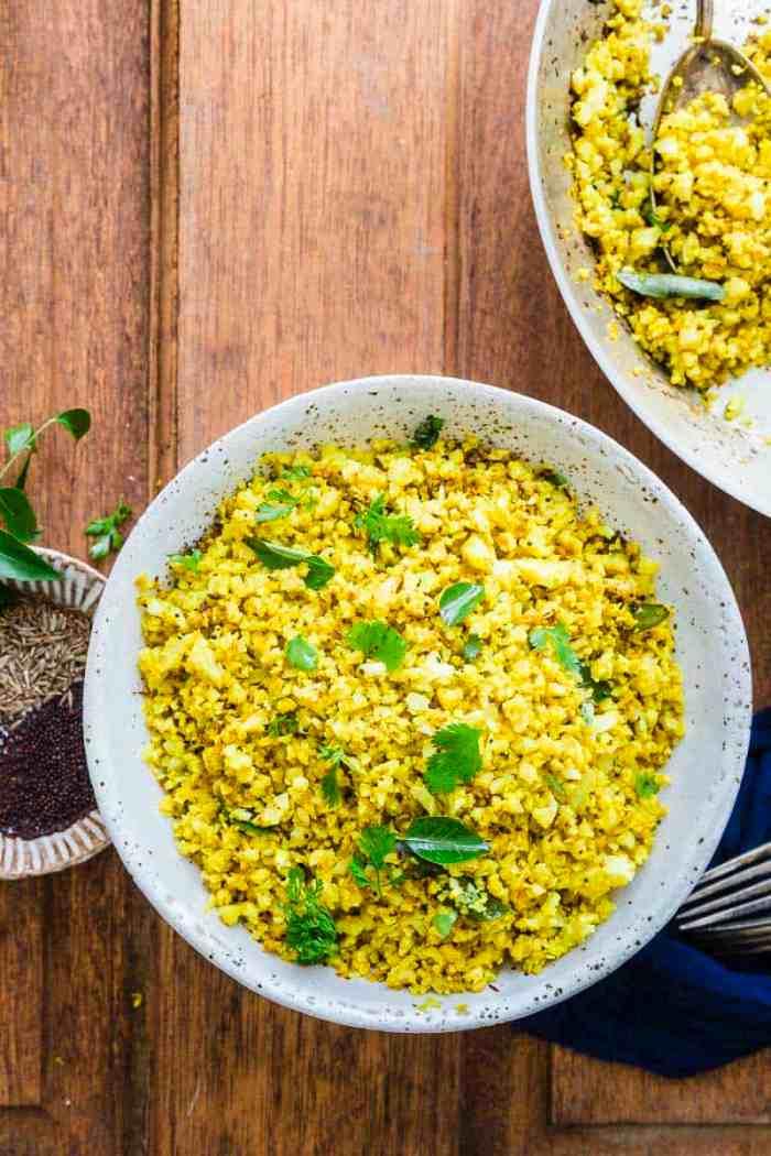 Bowl of spiced cauli rice