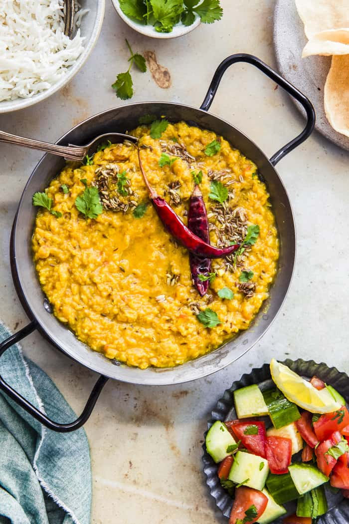 Dhal with tadka on the top