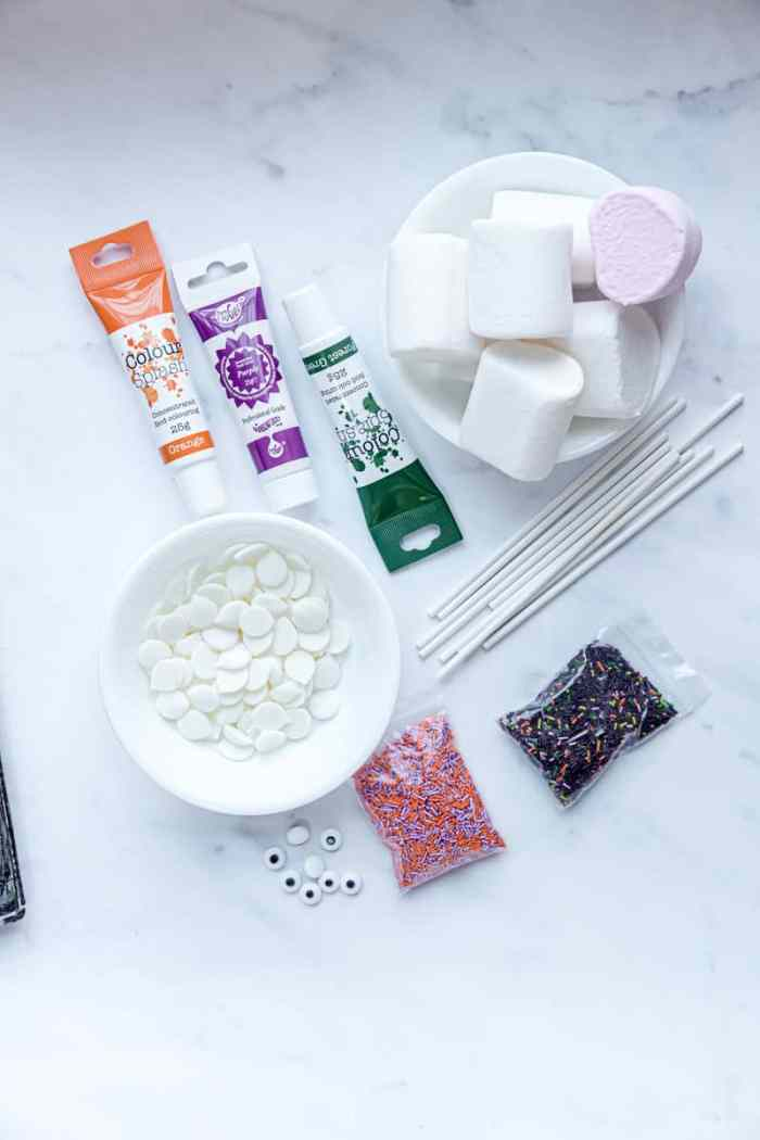 Ingredients for Monster Halloween Marshmallows