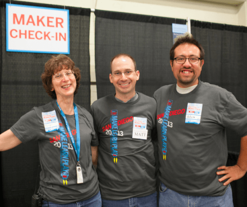 Volunteers at San Diego Mini Maker Faire 2013