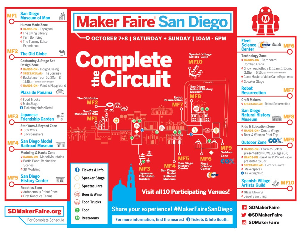 Maker Faire San Diego 2017 Event Map - Plan Your Day