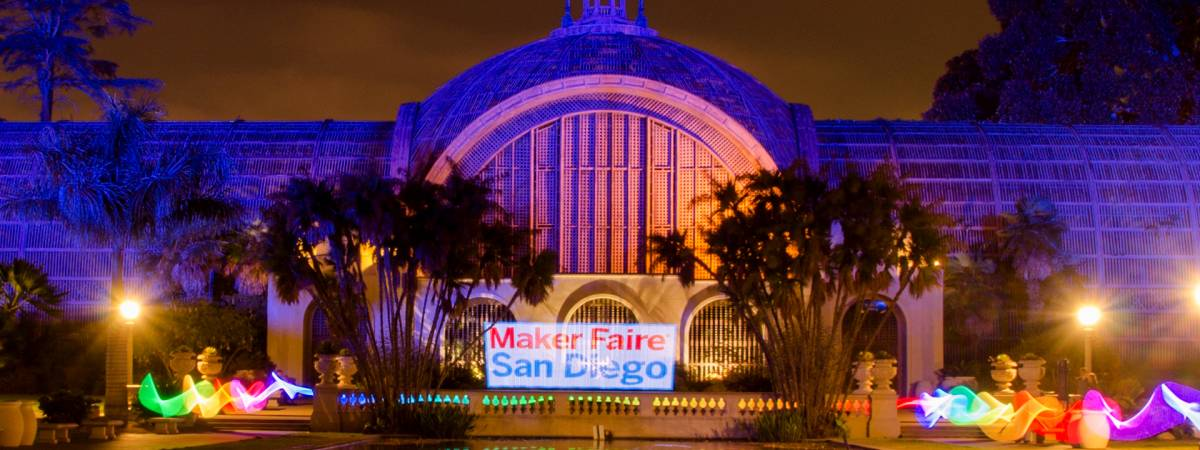 Light Painting around the Botanical Building in Balboa Park